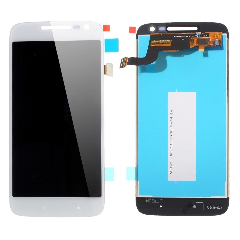Motorola Moto G4 Play LCD displej dotykové sklo komplet bílý