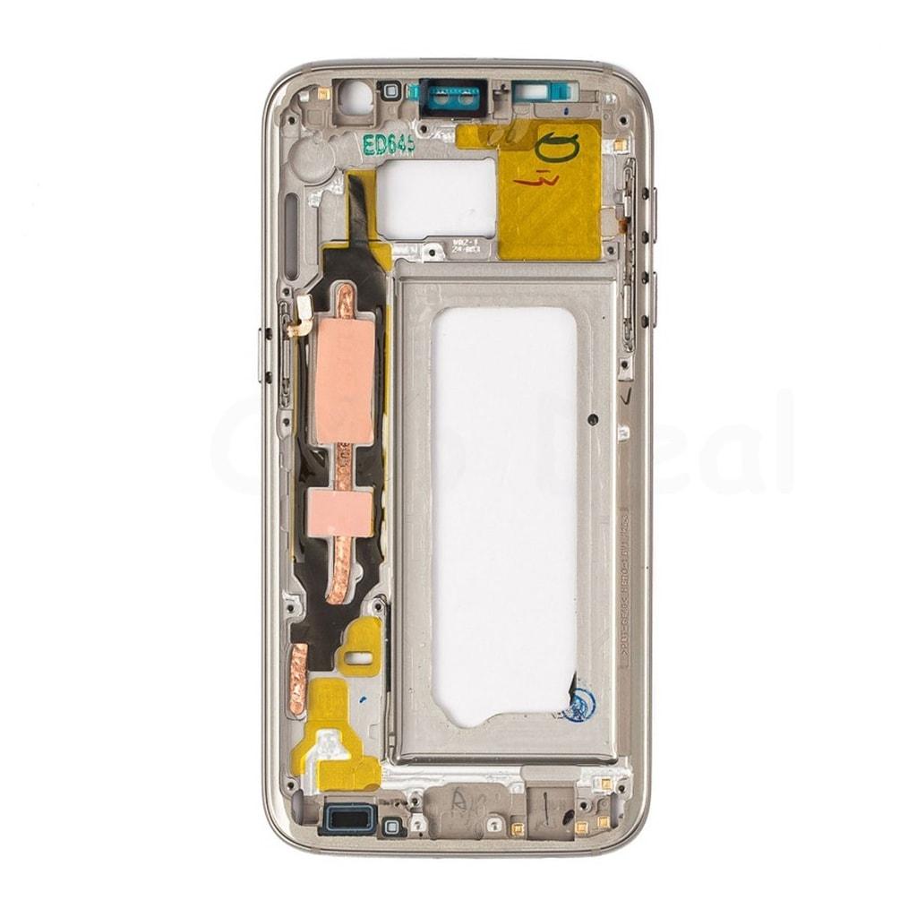 Samsung Galaxy S7 LCD rámeček střední kryt zlatý G930F