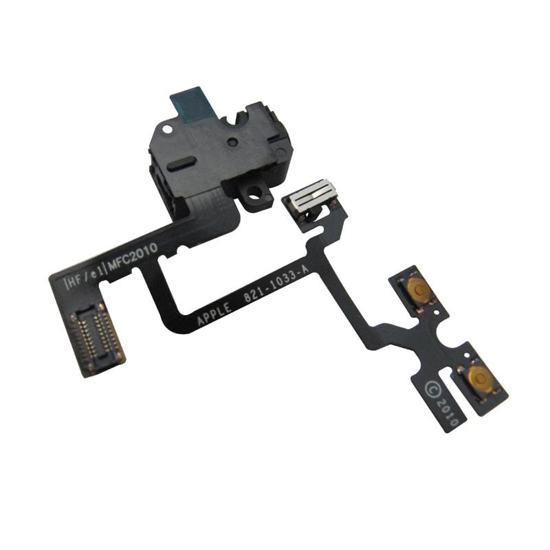 Apple iPhone 4 Audio jack flex ovládání hlasitosti volume černý