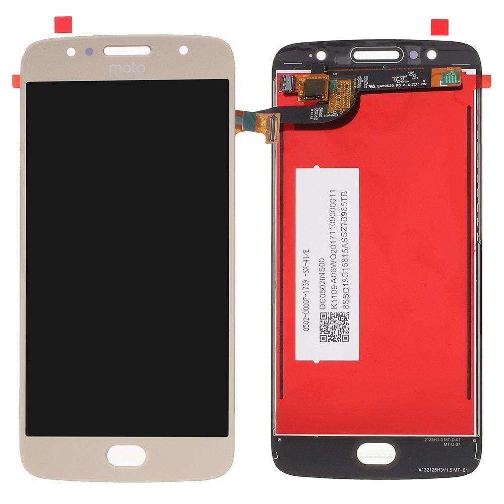 Motorola Moto G5S LCD displej dotykové sklo komplet přední panel zlatý