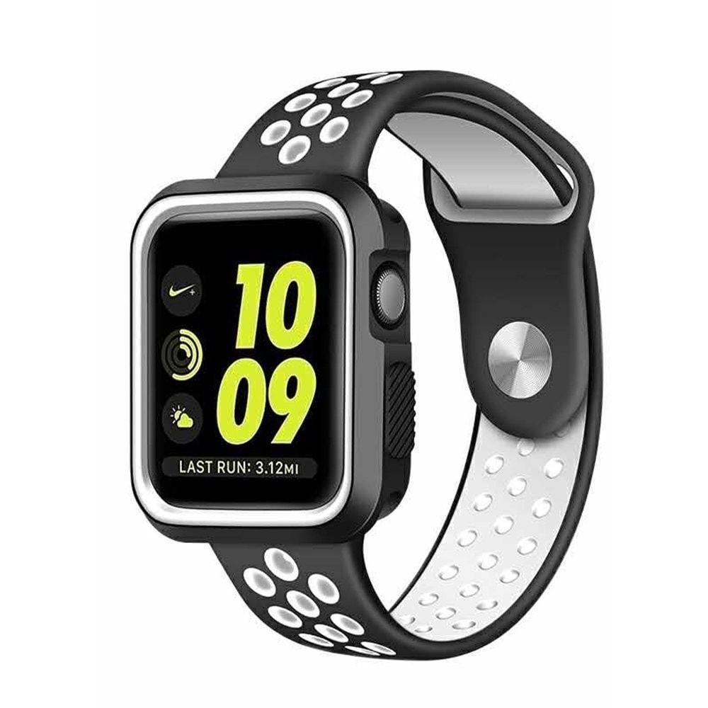 Apple Watch 42mm 44MM silikonový řemínek sportovní Nike sport bílý