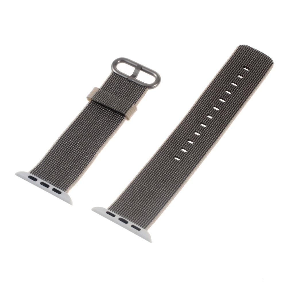 Apple Watch 42mm 44MM řemínek nylonový pásek šedý