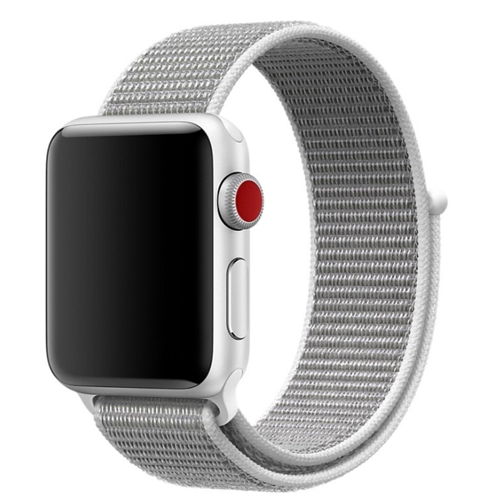 Apple Watch 42mm 44MM tkaný nylonový provlékací sportovní řemínek bílý