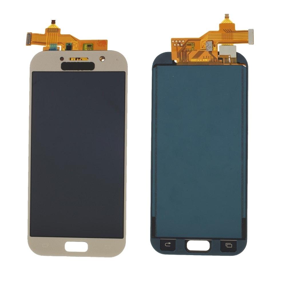 Samsung Galaxy A5 2017 LCD displej TFT přední panel komplet dotykové sklo A520 zlatý