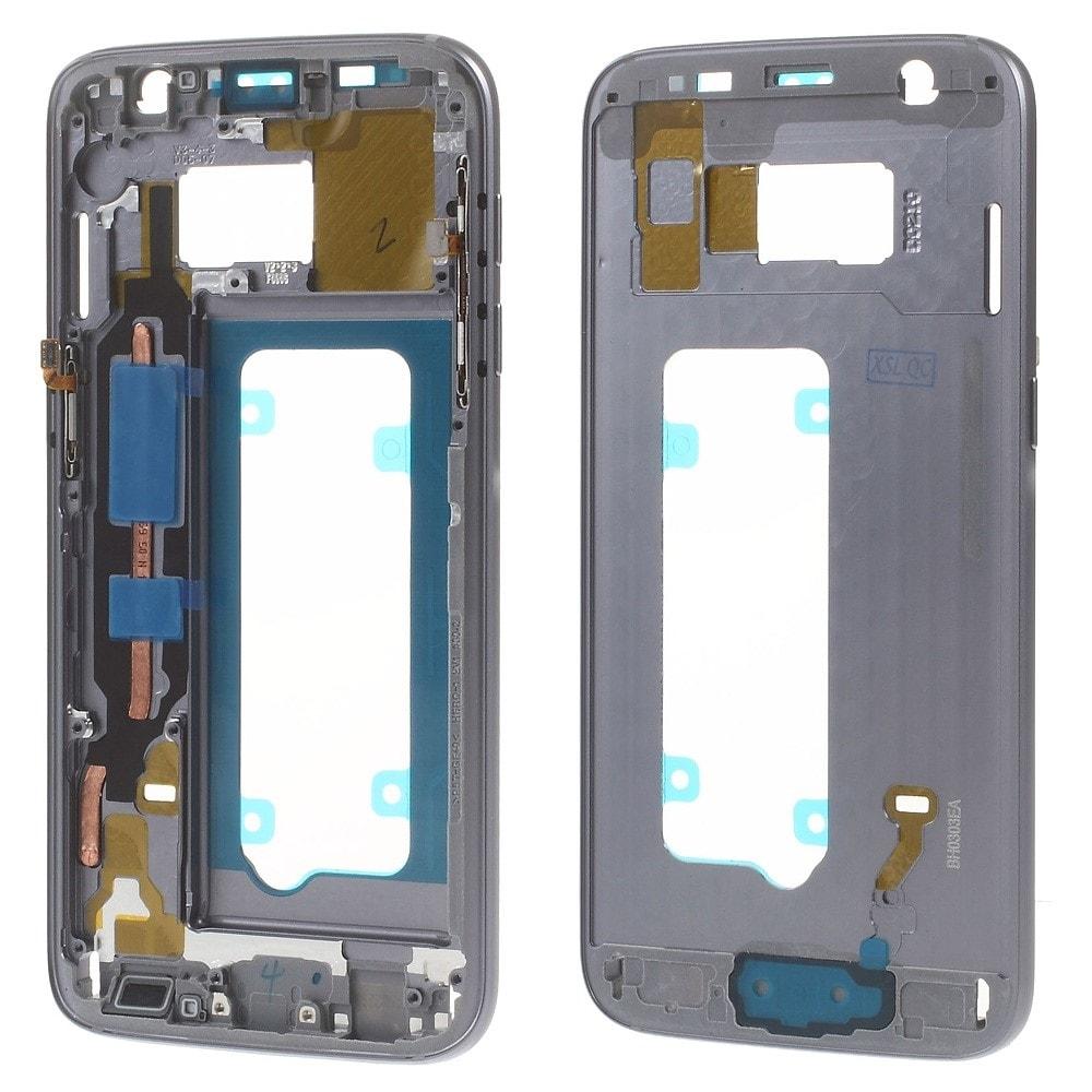 Samsung Galaxy S7 LCD rámeček střední kryt tmavě šedý G930F