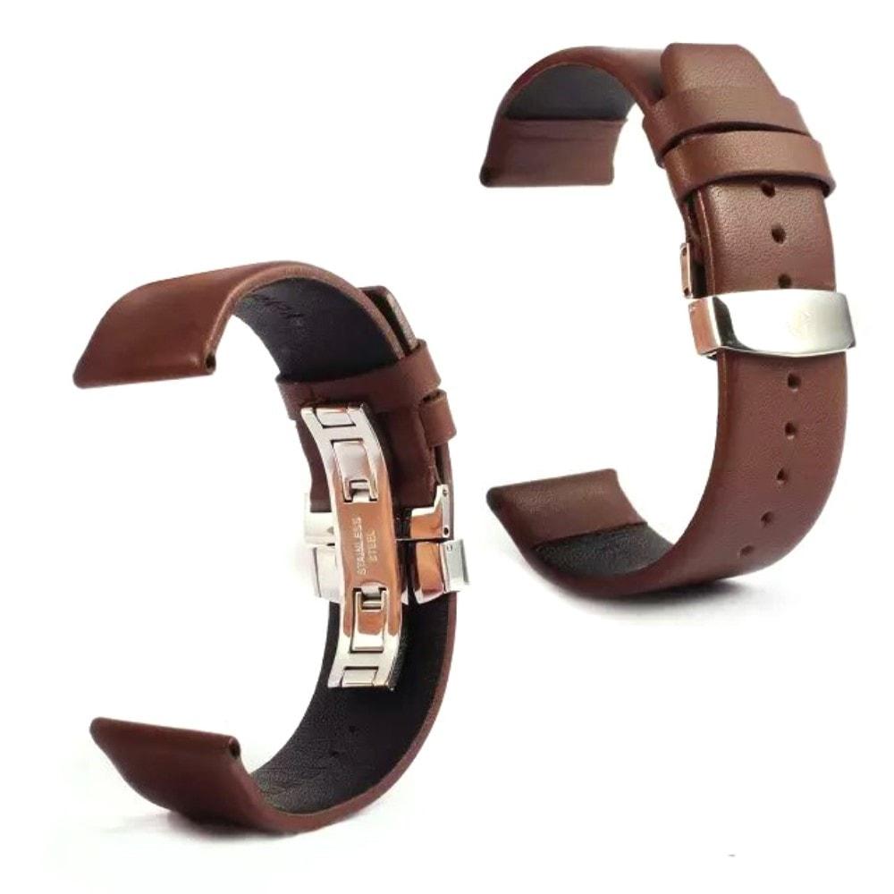 Apple Watch 42mm 44MM Kožený řemínek pásek kávově hnědý