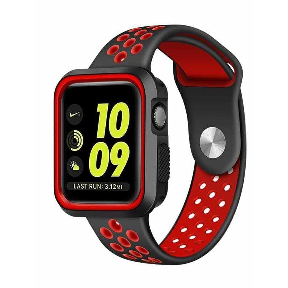 Apple Watch 42mm 44MM silikonový řemínek sportovní Nike sport červený