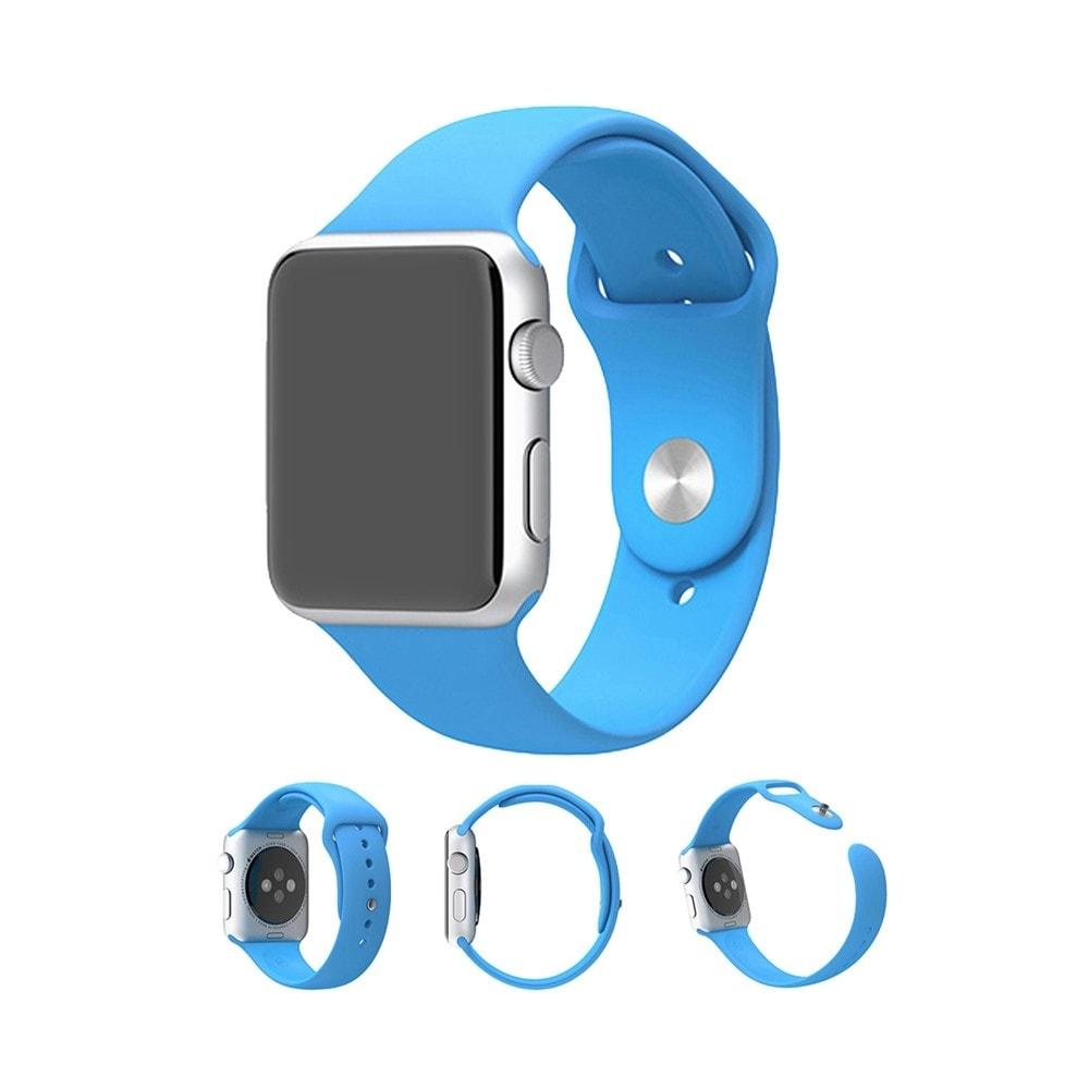 Apple Watch 42mm 44MM silikonový řemínek gumový modrý