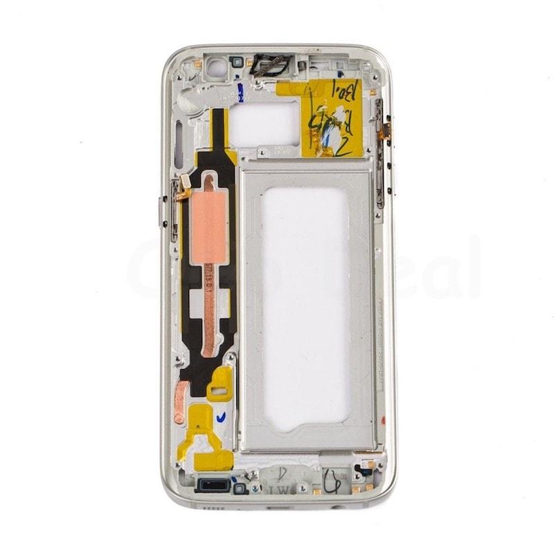 Samsung Galaxy S7 LCD rámeček střední kryt stříbrný G930F