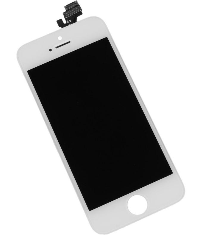 Apple iPhone 5 LCD displej bílý + dotykové sklo komplet
