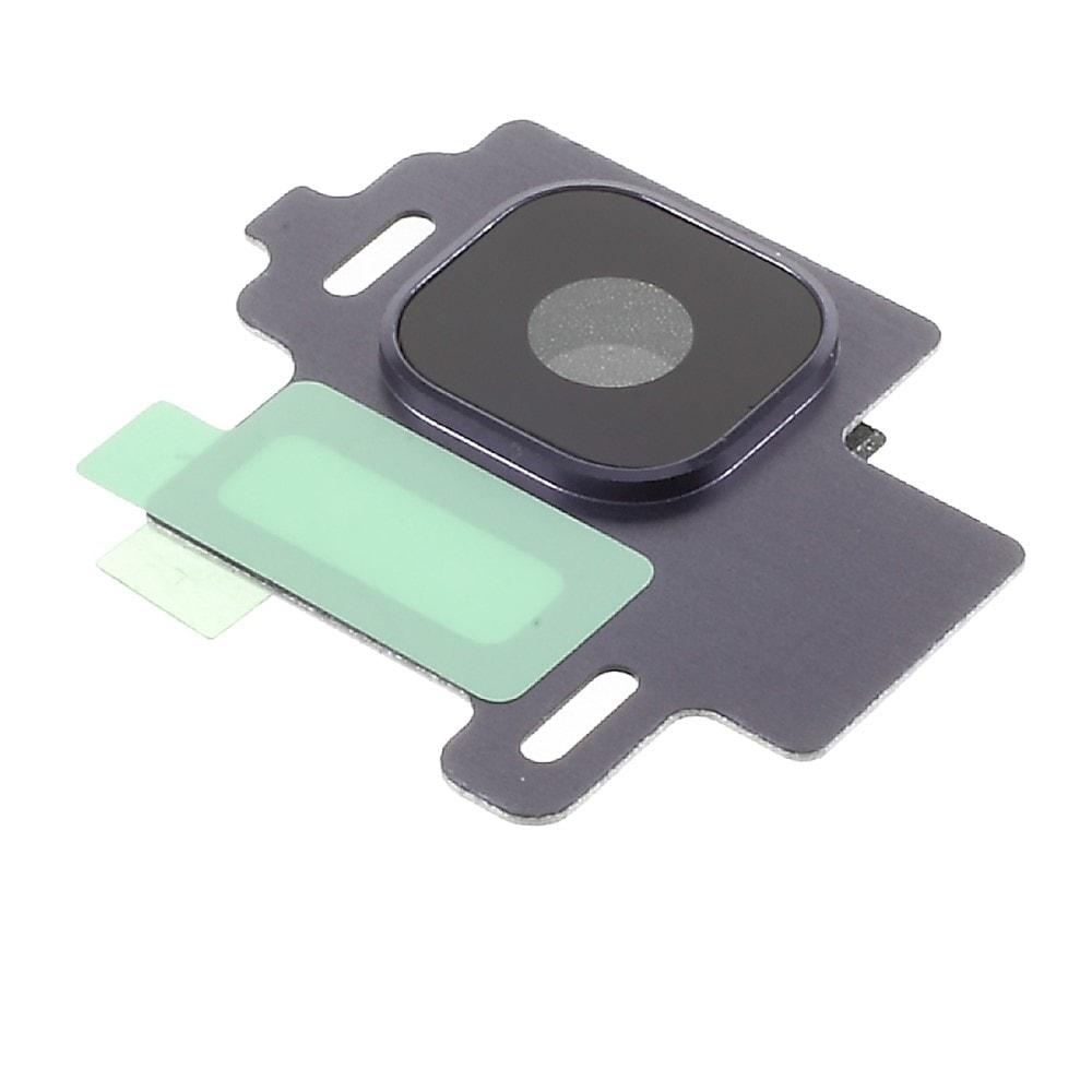 Samsung Galaxy S8 krycí sklíčko čočky fotaparátu včetně rámečku fialová G950F