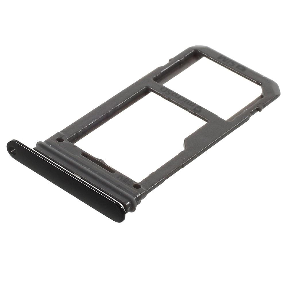 Samsung Galaxy S8 / S8 Plus šuplík na SIM SD černý G950 / G955 SINGLE SIM