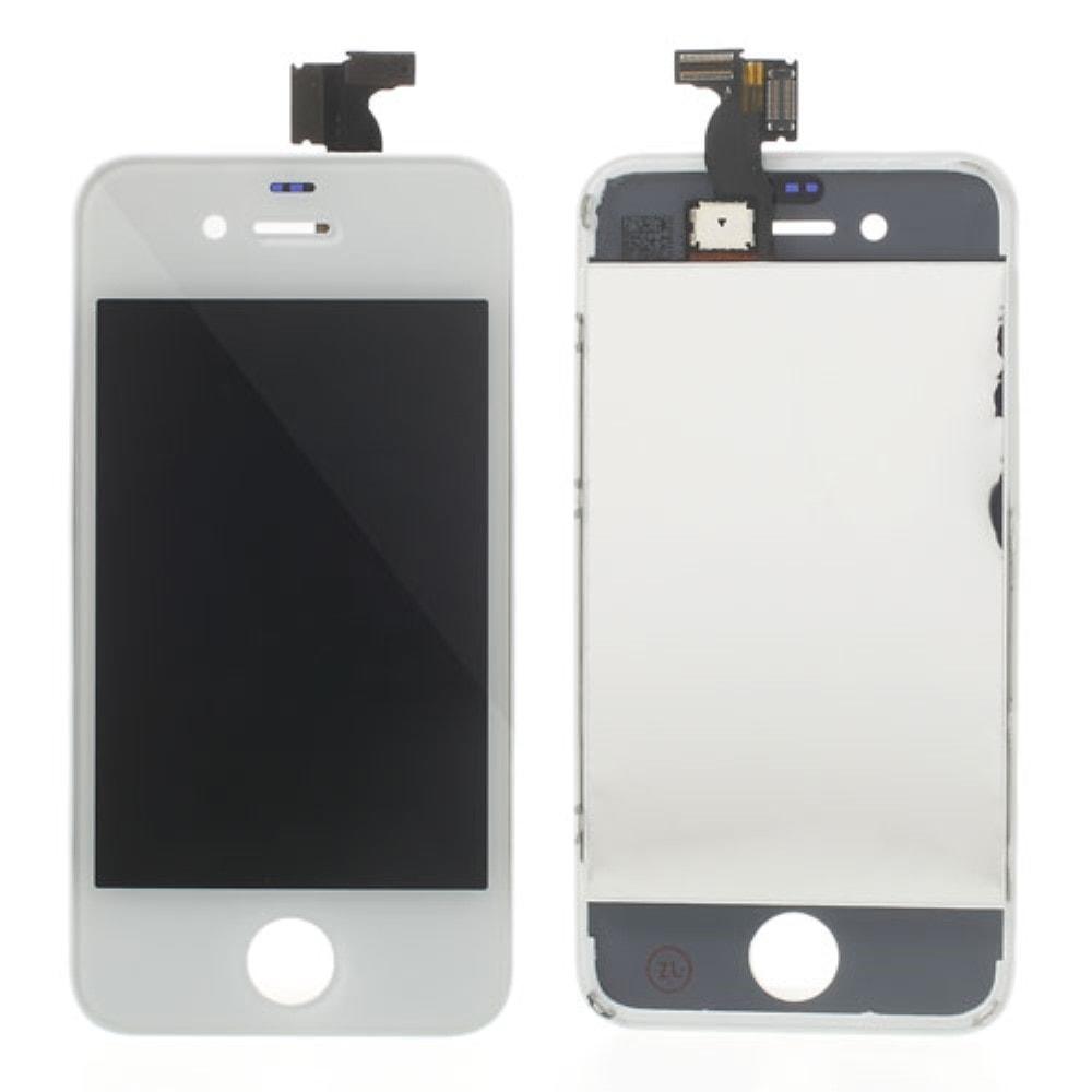 Apple iPhone 4 LCD displej bílý + dotykové sklo komplet