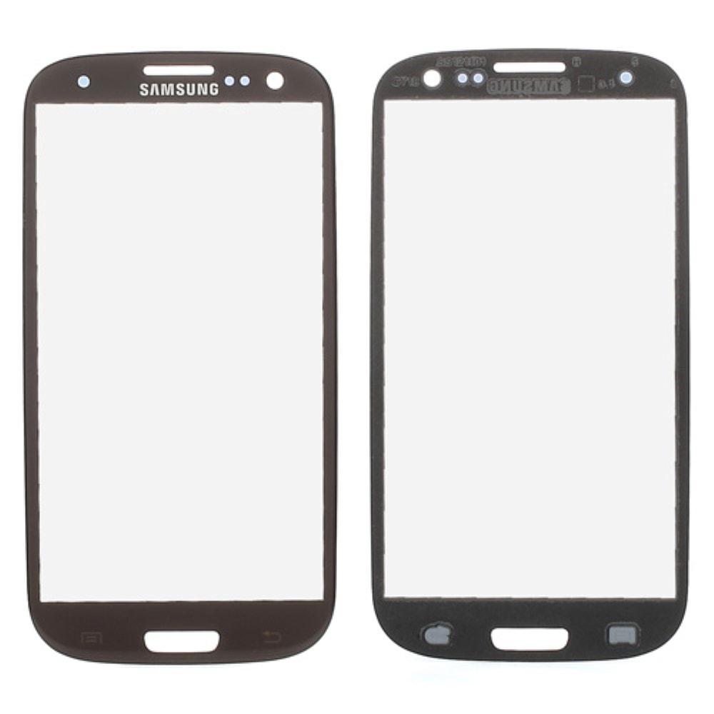 Samsung Galaxy S3 krycí sklo displeje hnědé i9300