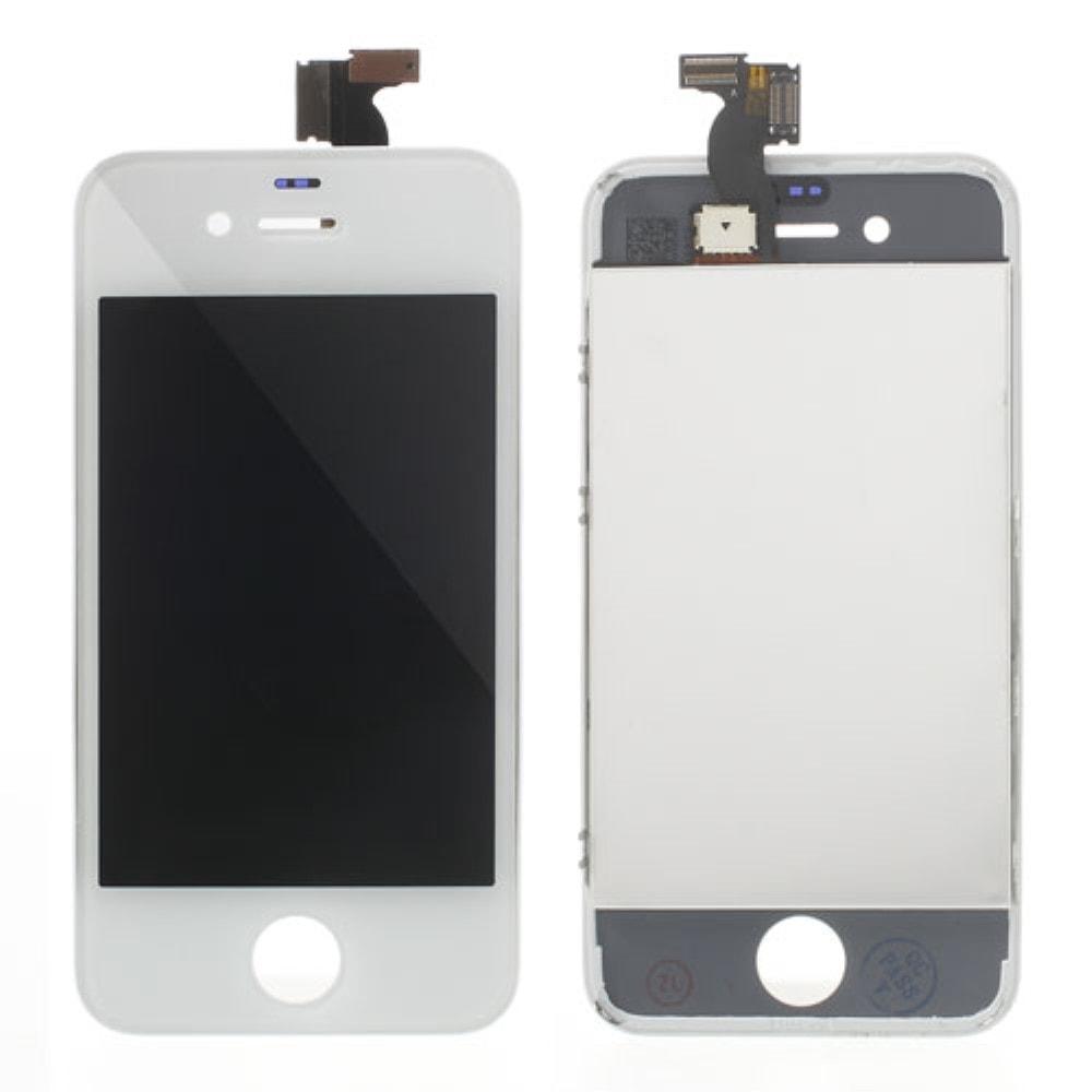 Apple iPhone 4S LCD displej bílý + dotykové sklo komplet
