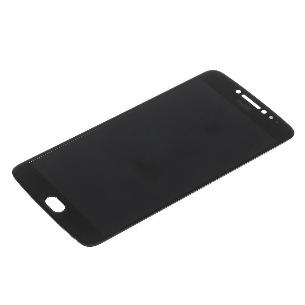Motorola E4 Plus LCD displej dotykové sklo komplet přední panel černý