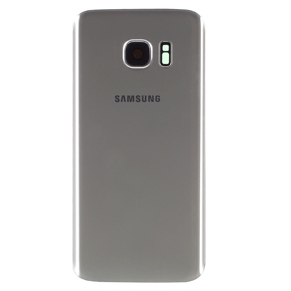 Samsung Galaxy S7 zadní kryt baterie stříbrný včetně krytky fotoaparátu Silver G930F
