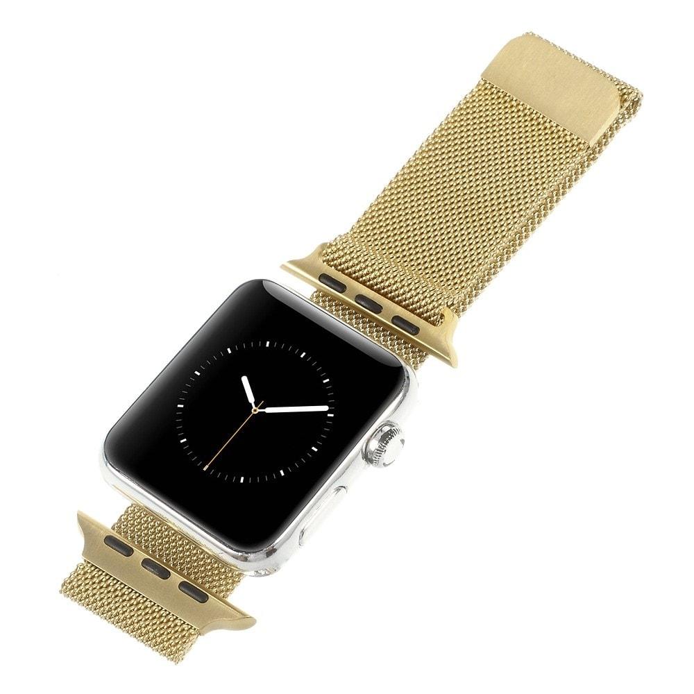 Apple Watch 42mm 44MM řemínek kovový Milanese Loop Milánský tah zlatý champagne gold