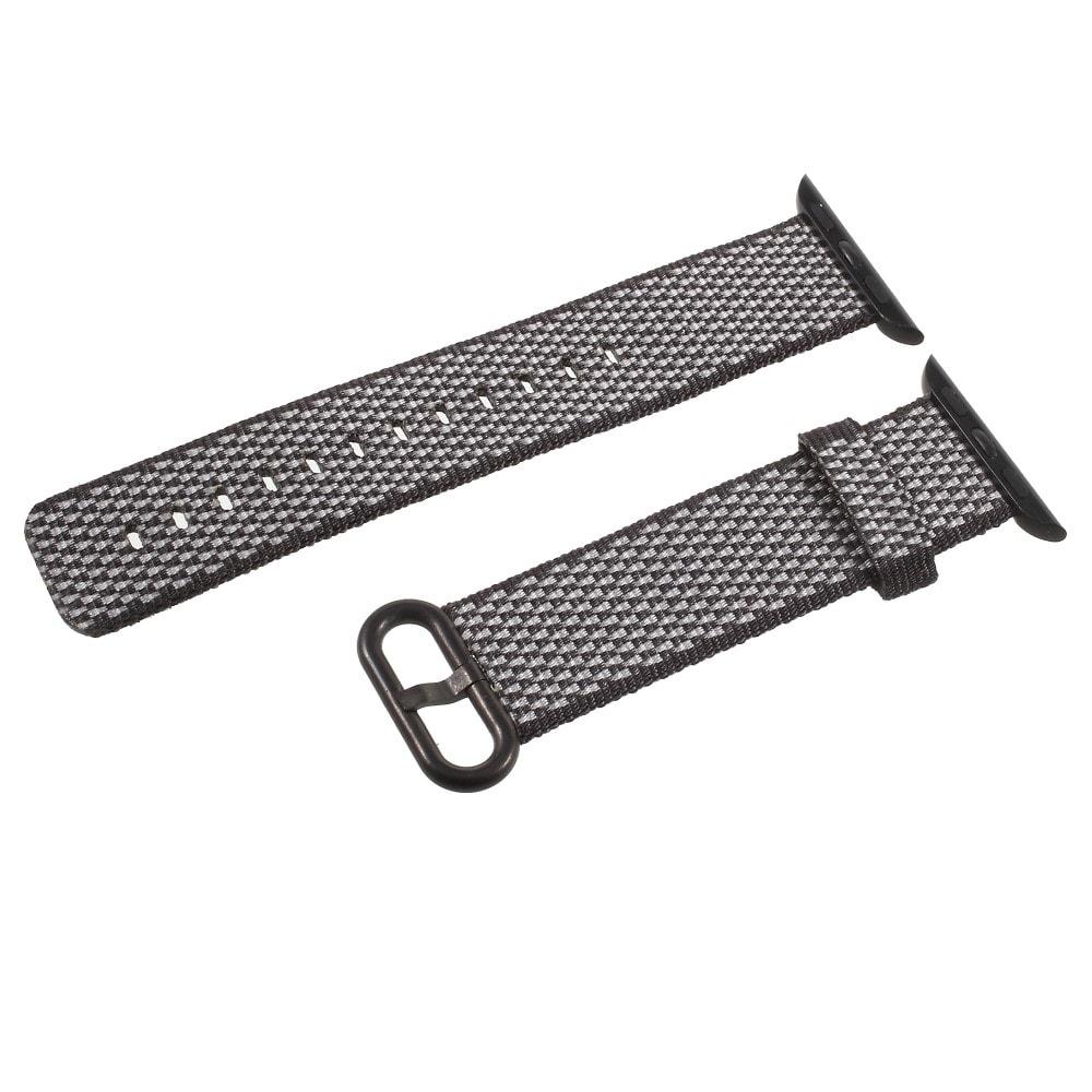 Apple Watch 42mm 44MM řemínek nylonový tkaný pásek černý