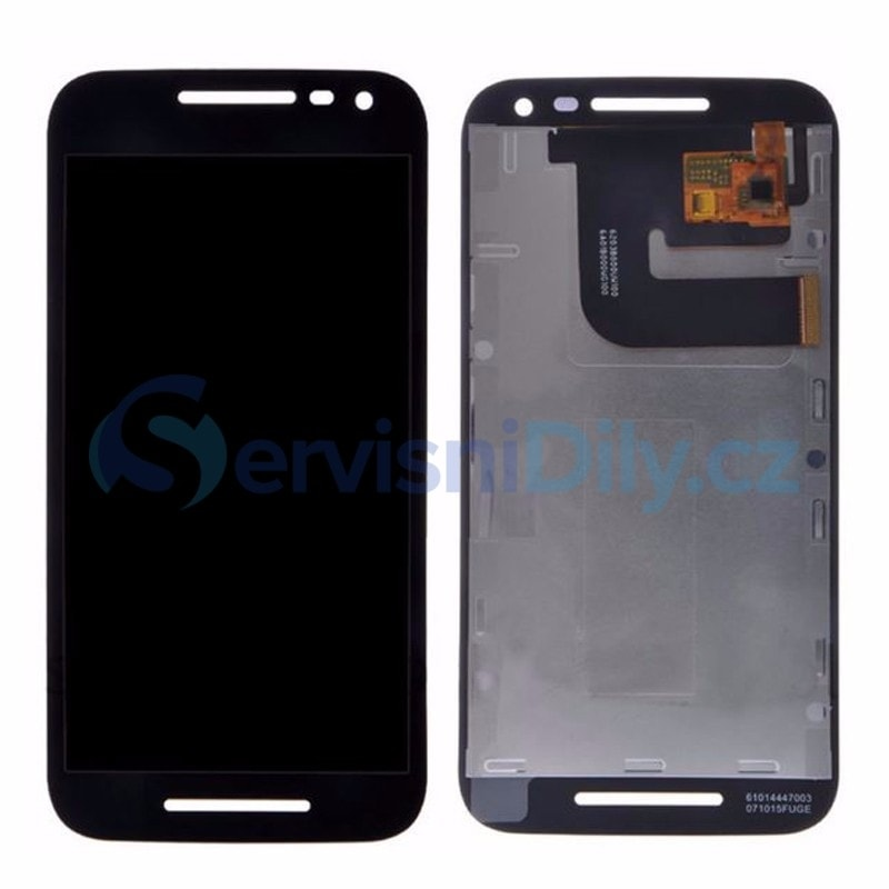 Motorola Moto G3 LCD displej černý + dotykové sklo 3. generace XT1544 XT1550
