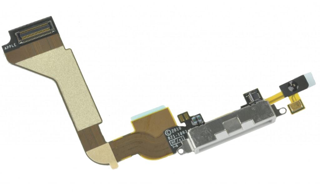 Apple iPhone 4 dock konektor nabíjení mikrofon bílý