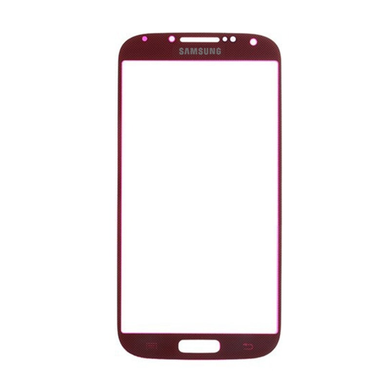Samsung Galaxy S4 krycí sklo displeje červené i9505