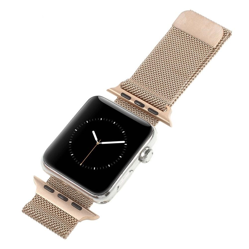 Apple Watch 42mm 44MM řemínek kovový Milanese Loop Milánský tah rose gold