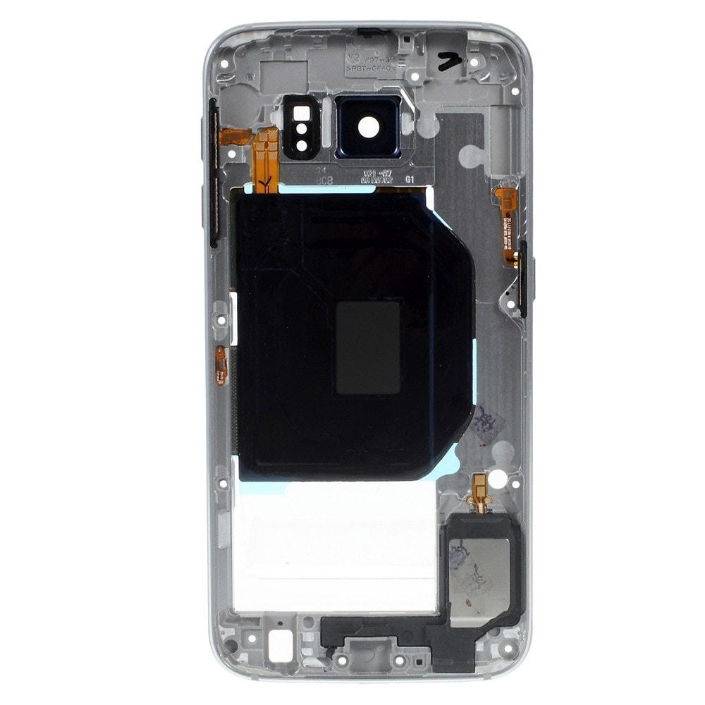 Samsung Galaxy S6 středový rámeček stření kryt LCD šedý G920F