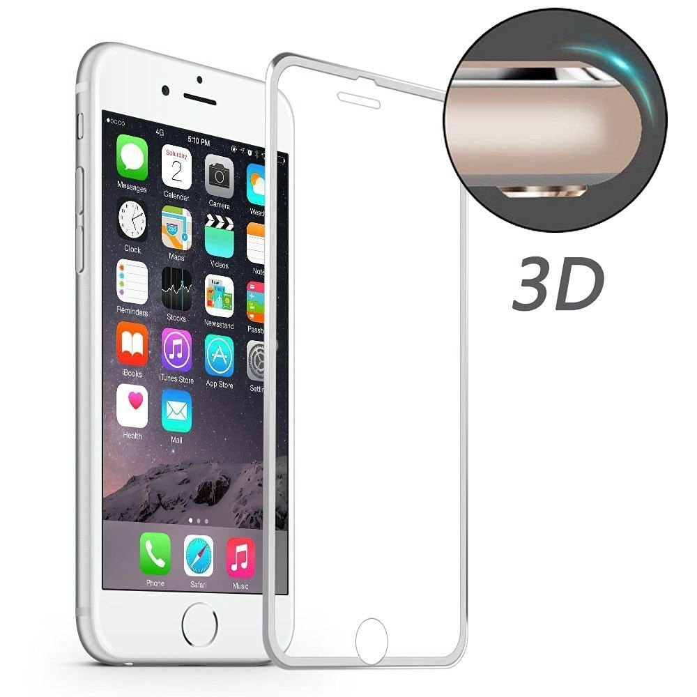 Apple iPhone 6 / 6S 3D Ochranné tvrzené sklo broušené hliníkové rohy